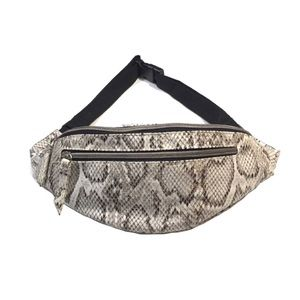 New Faux Snakeskin Fanny Pack with Two Zippers